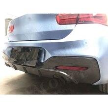 Dry Carbon Fiber Rear Bumper Lip Diffuser Spoiler for BMW 1 Series F20 M135i M140i M Sport 2016 2017 2018 Car Styling