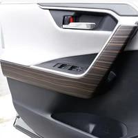 for toyota rav4 2019 2020 car interior abs peach wood car inner door handle cover armrest moulding trim sticker strip
