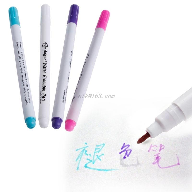 Pluma que se desvanece automáticamente, pluma marcadora de tela borrable con agua, herramienta de marcado para notetextil