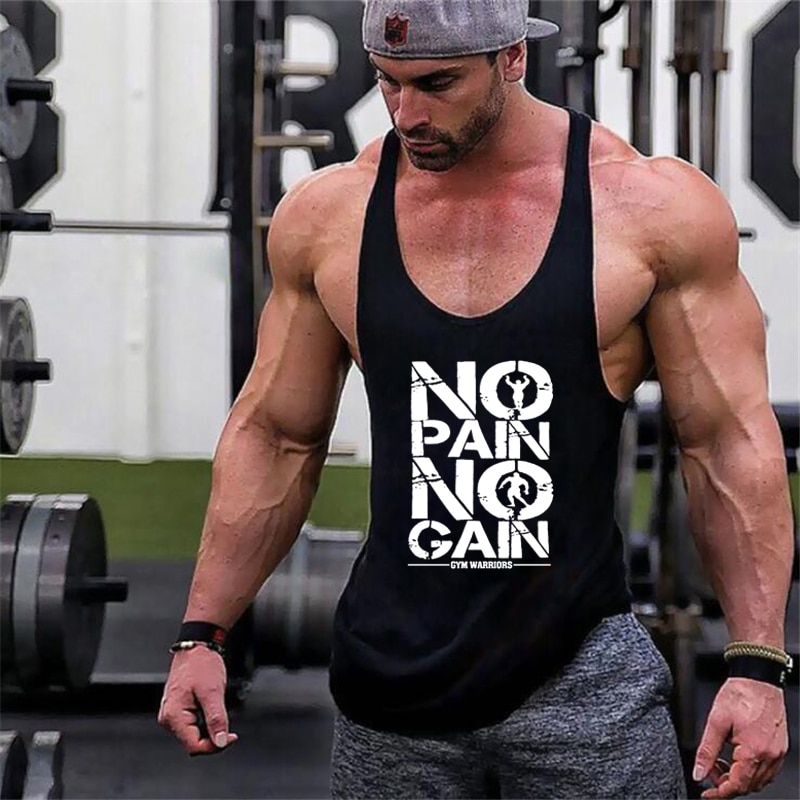 New Arrivals Bodybuilding stringer tank top man Cotton Gym sleeveless shirt men Fitness Vest Singlet