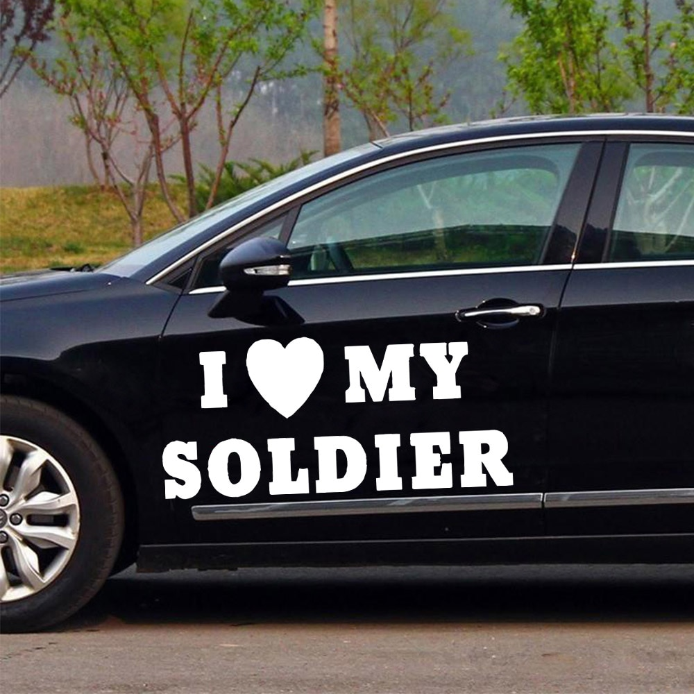 Мультяшная наклейка I love для автомобиля, модная мультяшная наклейка для автомобиля, украшение окна, индивидуальные виниловые наклейки