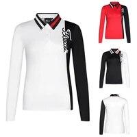 2021 ladies golf long sleeve t shirt sweatshirt golf apparel breathable polo shirt ladies