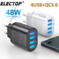 Сетевое зарядное устройство ELECTOP с 4 USB-портами, 3 А, 48 Вт