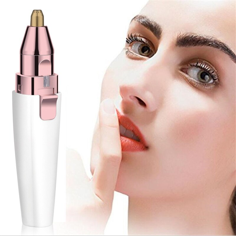 2 IN 1 Electric Eyebrow Trimmer Makeup Painless Eyebrow Epilator for Women Portable USB Rechargeable Facial Hair Remover Machine enlarge