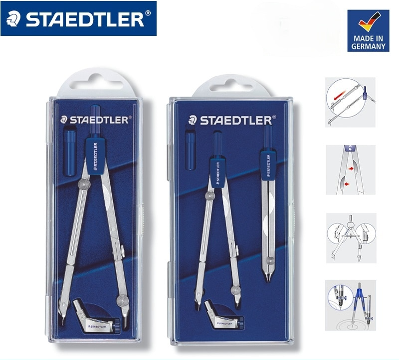 STAEDTLER Compasses 551 552 Drawing Compasses Design Drawing Compasses 554 Metal Compasses Set Telescopic Rod
