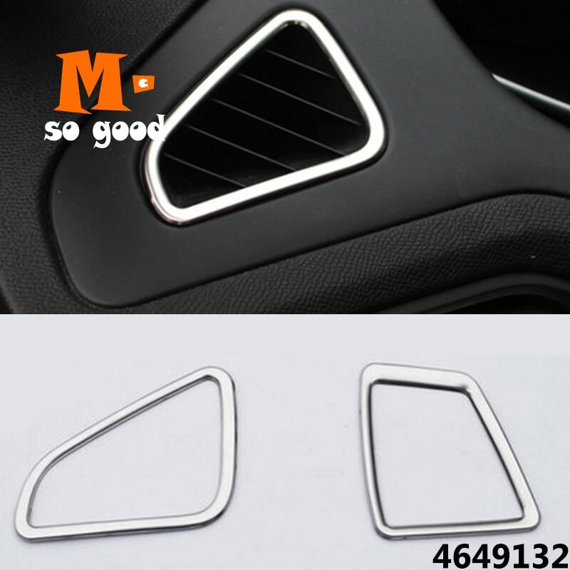 Tapa de salida cromada para aire acondicionado, accesorios de coche para Peugeot 308 T9 SW, retrovisor 2015 2016