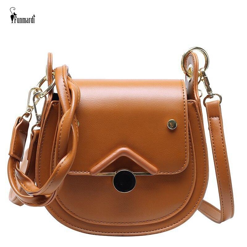 Ansloth 2021 New Brand Solid Color Crocodile Pattern Crossbody Bag Women PU Leather Shoulder Bag High Quality Saddle Bag HPS1117