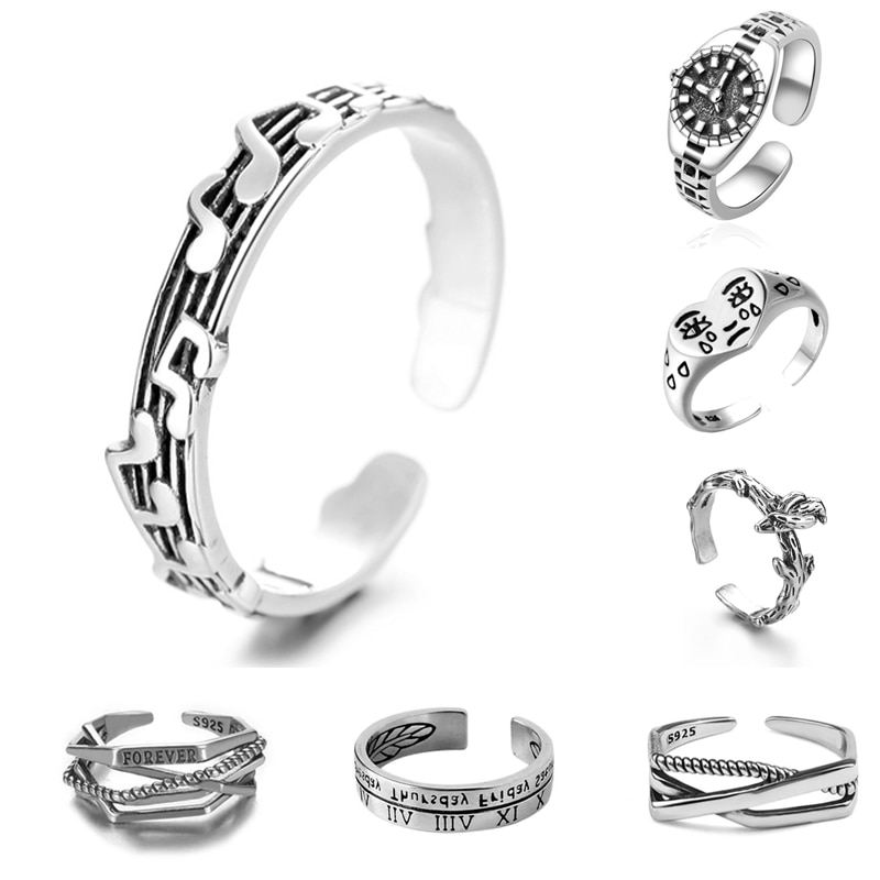 AliExpress - New Simplicity Watch Ring Retro Silver Color Alloy Music Notes Ring Prom Dating Ring Women Girls Jewelry Gift Adjustable Opening