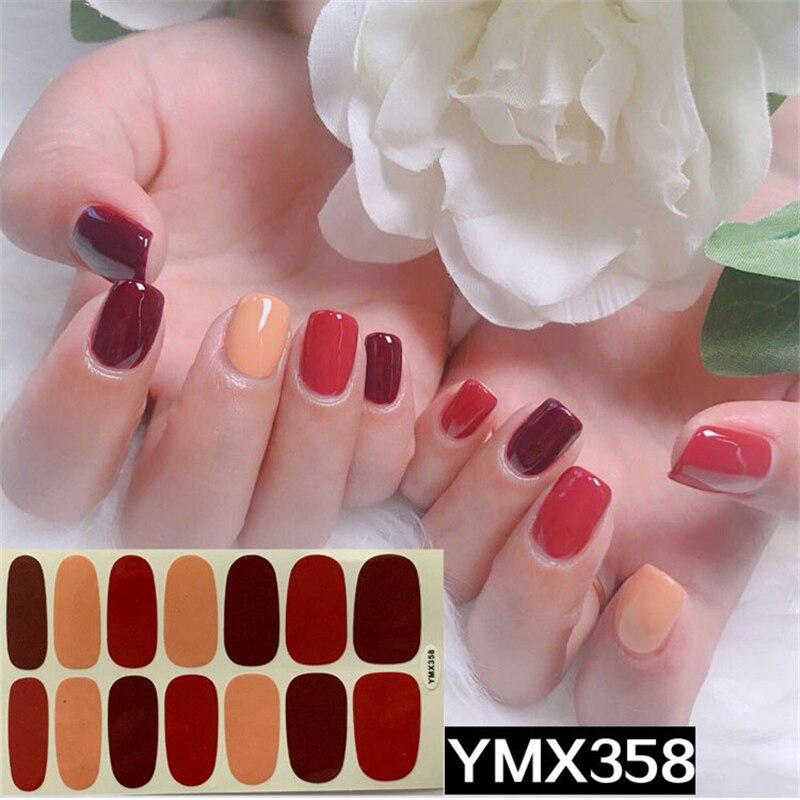 Recuerdame, gran oferta, pegatinas para uñas 3D, Logo de moda, pegatinas para manicura, rojas y negras autoadhesivas, accesorios impermeables para uñas