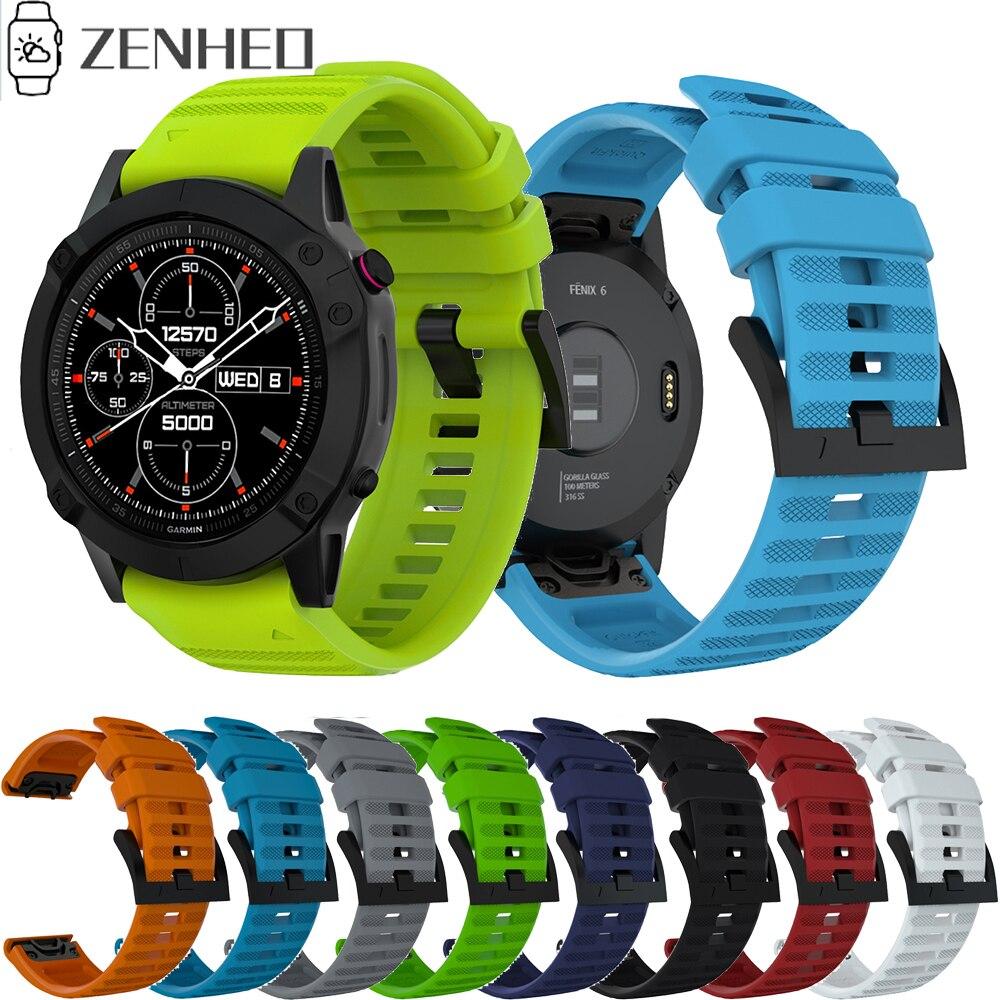 22mm correa de muñeca de repuesto de liberación rápida para Garmin Fenix 6 GPS Smart Watch correa de ajuste fácil