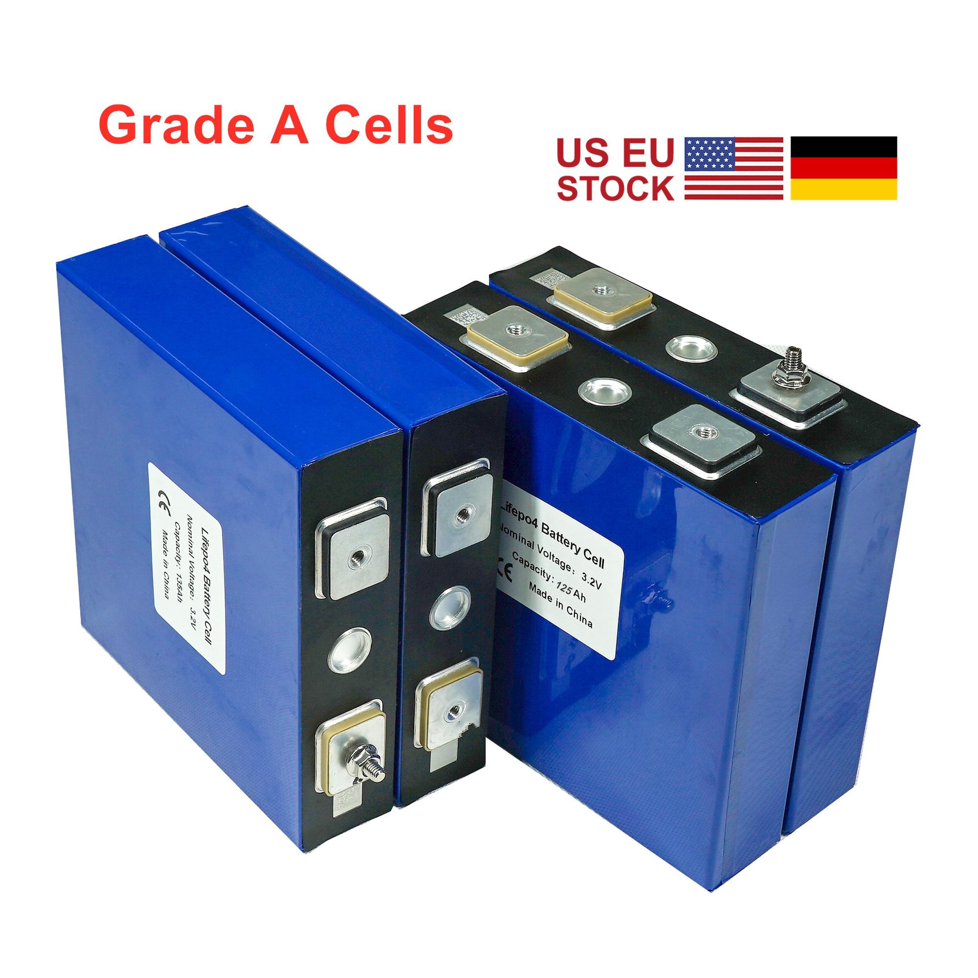4PCS 3,2 V 120Ah 125Ah Lifepo4 Batterie 2021 Neue GRADE A LFP Lithium-Solar 12V 24V 48V Zellen Nicht 150ah 200AH UPS Schnelle Lieferung