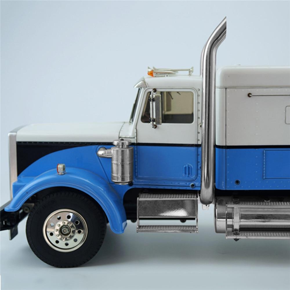 TAMIYA-أنابيب العادم المعدنية التي يتم التحكم فيها عن بعد ، للشاحنة الأمريكية ، شاحنة King ، ملحقات السيارة ، موديل RC 1/14