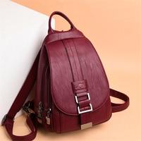 Hot Women Leather Backpacks Female Vintage Backpack For Teenage Girls School Chest Bag Travel Bagpack Ladies Sac A Dos Back Pack
