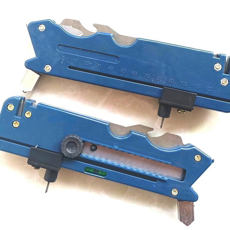 1PC Glass Tile Cutter Multifunction Plastic Pen Professional Tile Glass Cutter Six Wheel Metal Carbide Bottle Cutting Kit Tool