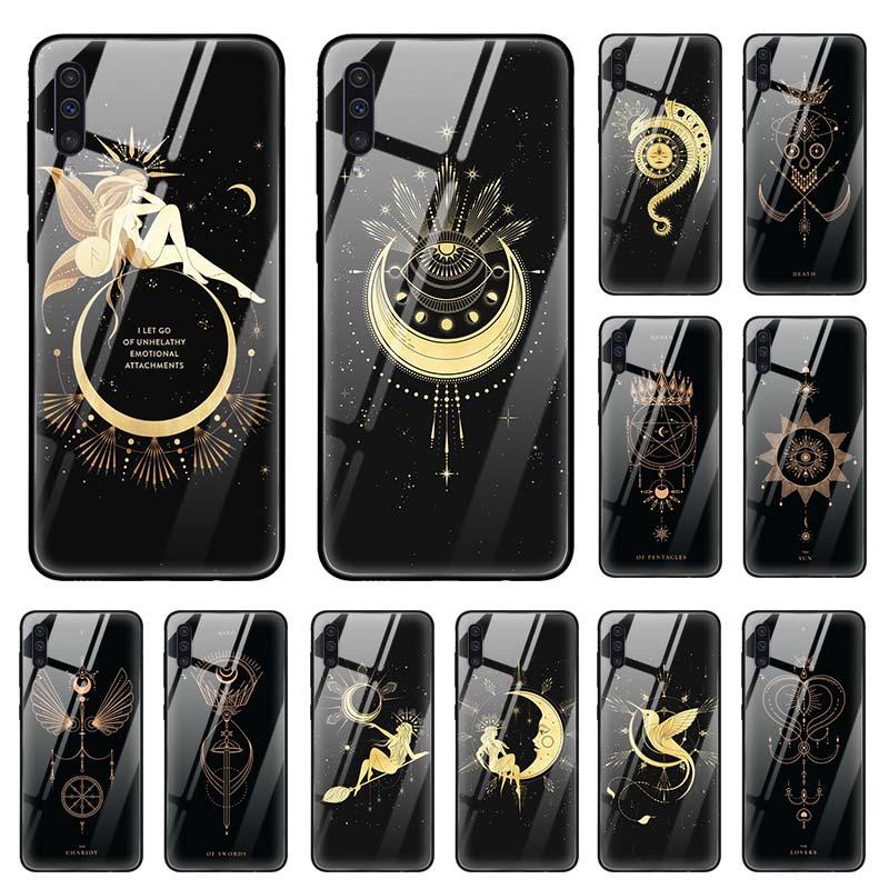 Queen Of Pentacles Case for Samsung Galaxy A50 A70 A40 A30 s A10 A20s A51 A71 J4 J6 Plus M30s Tempered Glass Phone Coque Sac
