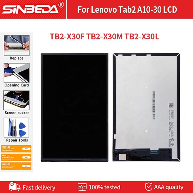 الأصلي لينوفو Tab2 A10-30 LCD TB2-X30F TB2-X30M TB2-X30L LCD عرض تعمل باللمس + شاشة التحويل الرقمي الجمعية استبدال أجزاء