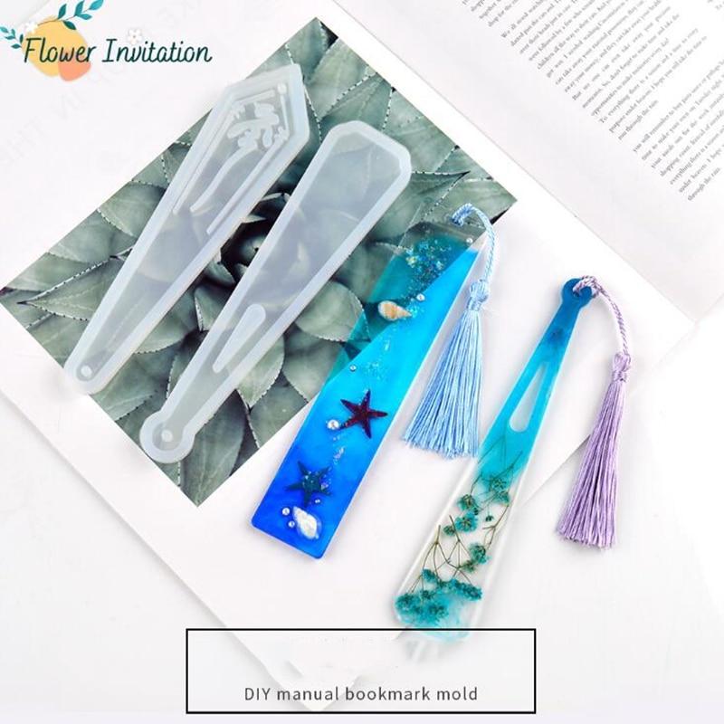 1PC rectangular transparent silicone mold DIY crystal  uv resin blank token bookmark silicone mold