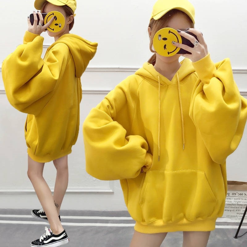 hoodies mulheres com capuz solida simples all jogo lazer oversize pullovers estilo