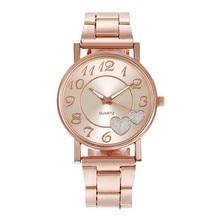 Fashion Women Watches Diamond Love Heart Dial Quartz Watch שעון לאישה подарки на новый год montres femmes relogio mulher #L0
