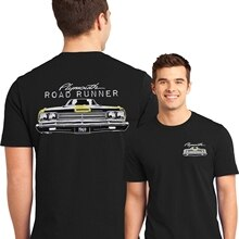 Classic Muscle Car T Shirt 1969 Plymouth Road Runner Mopar Black T-shirt Mens Fashion Casual Tee Shirt Soft Cotton