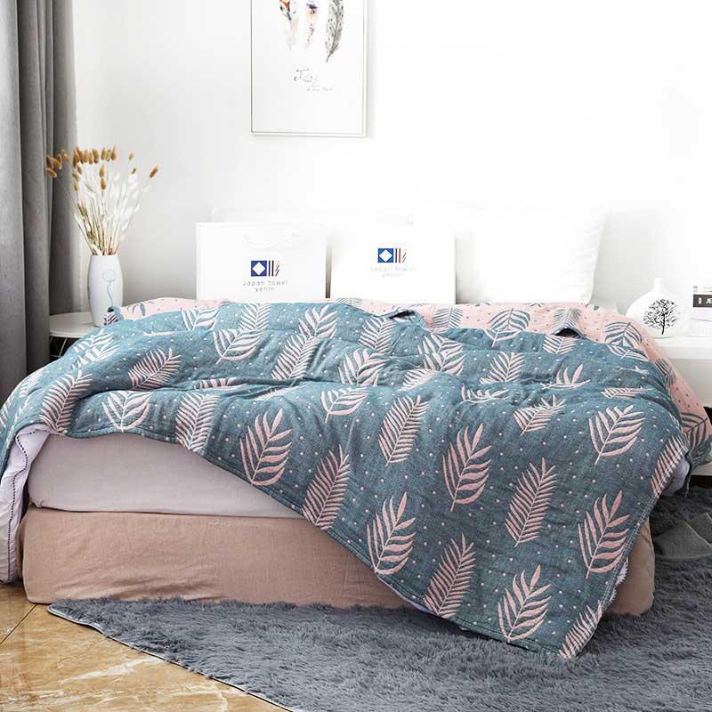 بطانية من الشاش القطني من 6 طبقات للأطفال والكبار ، مفرش سرير صيفي للأريكة والسرير
