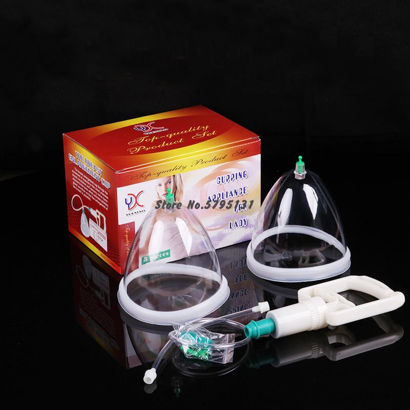1set bomba de aumento de senos terapia de la presión presoterapia instrumento pecho vacío masajeador corporal con ventosas de amplificador
