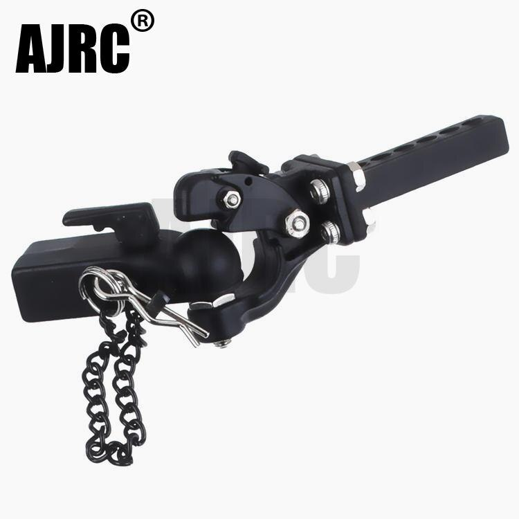 RC Metal Trailer Hook Connector Coupler For 1/10 RC Crawler Car Traxxas TRX4 Bronco RC4WD D90 Axial SCX10 90046 JIMNY G500 G63
