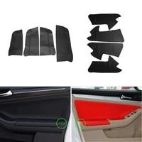 interior car microfiber leather door armrest panel cover protective skin trim for vw jetta mk6 2015 2016 2017 2018
