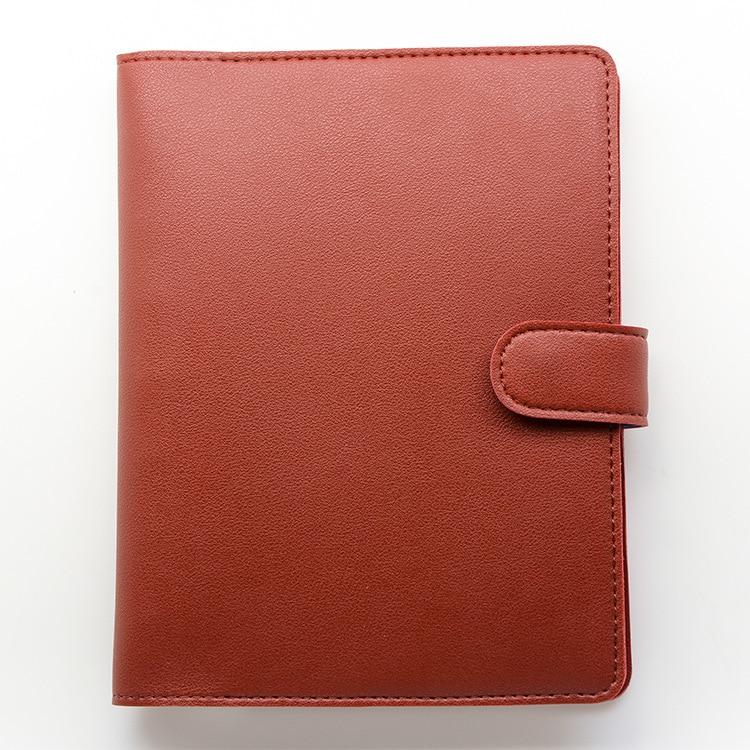 A5B6 funda de cuaderno de hoja suelta cubierta de libro multifunción de negocios Reunión de registro Funda de cuero