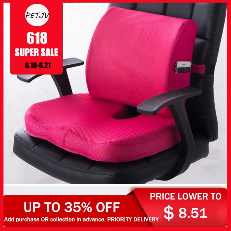 Pain Tailbone Massage Chair Seat Back Cushion Hip Push Up Memory Foam Pillow Student Office Armchair Cushion