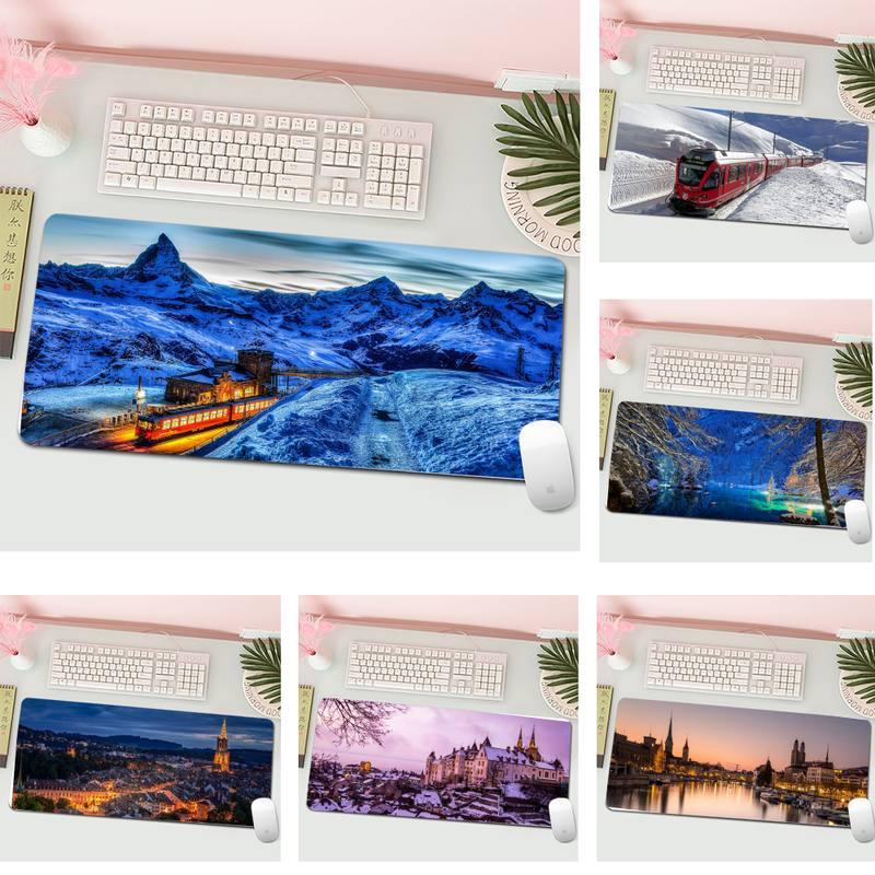 Швейцарии по индивидуальному заказу Мышь колодки компьютер Аниме Коврик для мыши и ноутбука Мышь геймер клавиатура PC стол коврик планшетны...