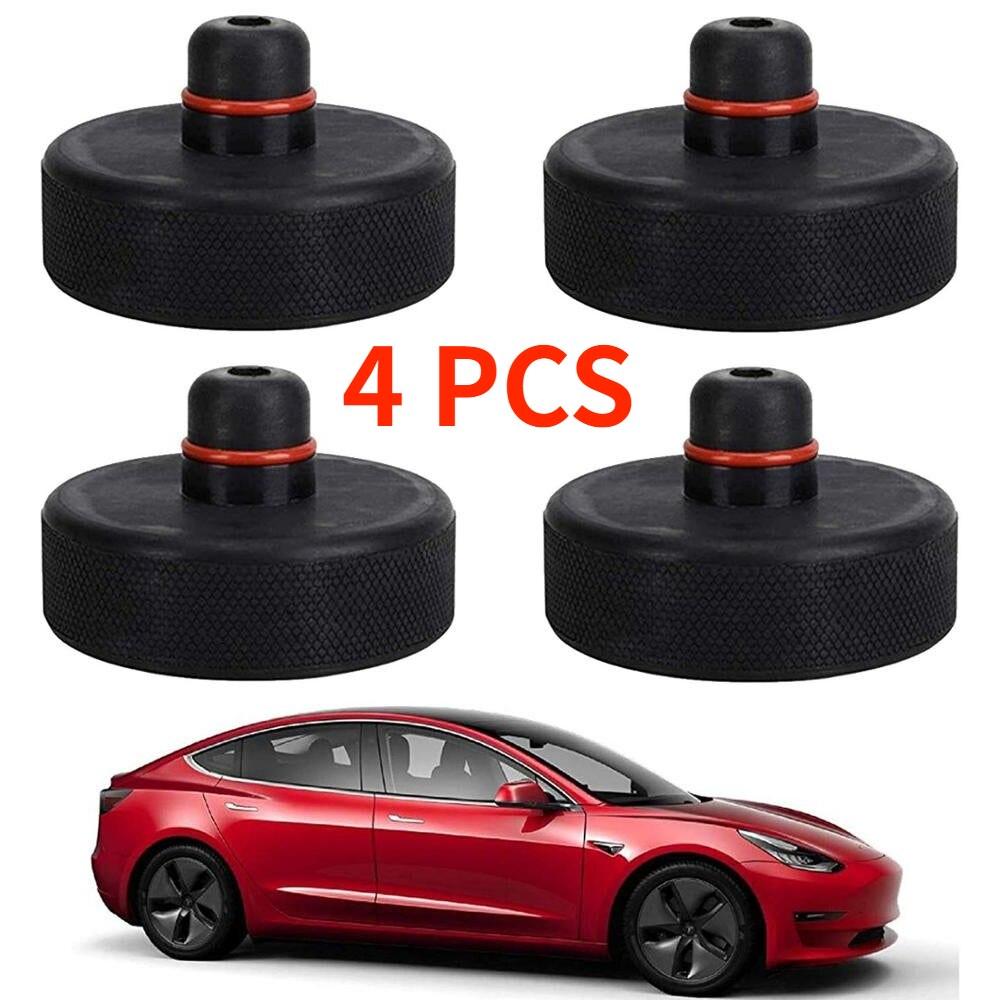 4 шт. черный резиновый домкрат подъемные колодки адаптер домкрат инструмент шасси домкрат автомобильный Стайлинг Аксессуары для Tesla Model X/S/3
