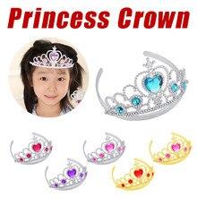 Halloween juguetes de Navidad para niños niña reina princesa coronas de juguete para niños cristal Tiara Cosplay vacaciones regalo de fiesta de cumpleaños nuevo