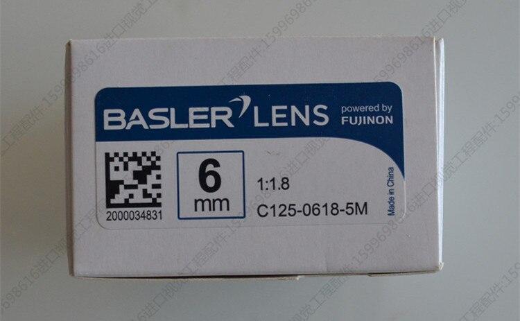 ل 1 قطعة Basler C125-0618-5M عدسة الصناعية البعد البؤري 6 مللي متر 5 مليون بكسل