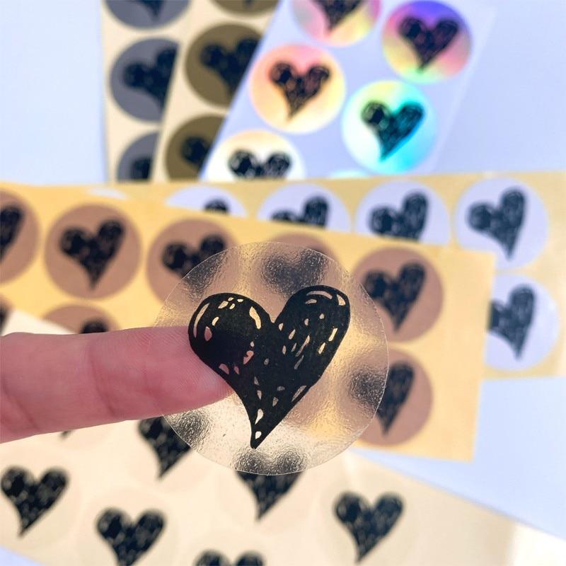 pegatinas-de-corazones-pintados-a-mano-100-uds-pegatina-de-sellado-blanco-transparente-lamina-de-cuero-de-vaca-dorado-plateado-35mm