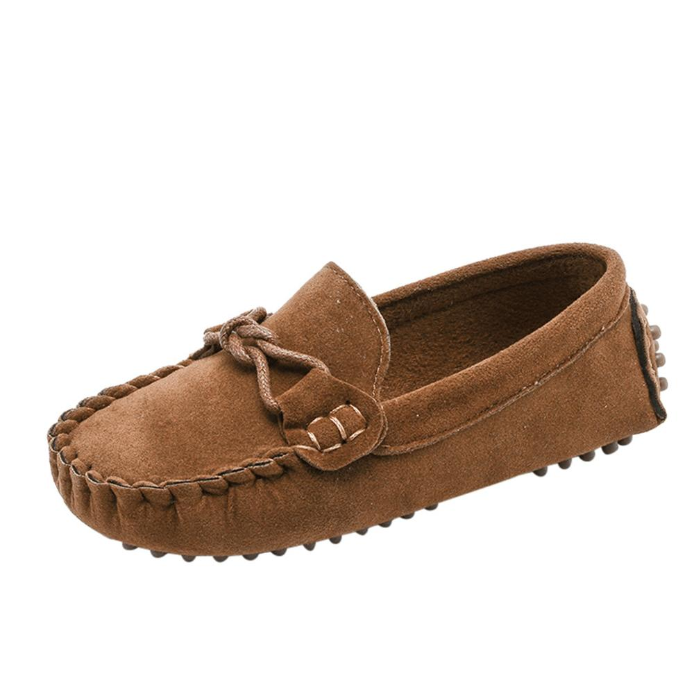 Niños niños niñas mocasines niños zapatos Color sólido fondo suave zapatos informales transpirables estilo cowboy cool Shoes niños Zapatillas