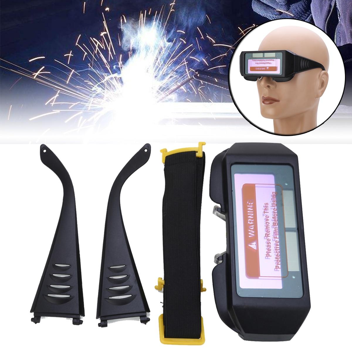 Nuevo Solar automático Máscara de Soldadura oscurecimiento casco ojos gafas soldador gafas de soldadura para soldadura suministros de soldadura