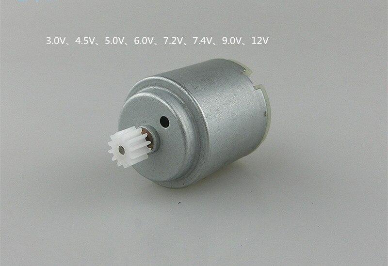 R260 magnético fuerte motor de CC con engranaje de bricolaje juguete de coche 3v 4,5 v 5V 6V 7,2 v 7,4 v 9v 12v