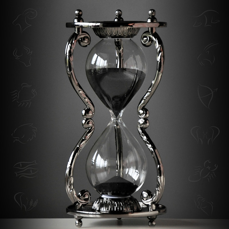 nordic style Creative Zodiac Metal hourglass timer modern art Craftwork Home antiques accessories For men's girlfriends gifts 2017 chinese art auction records antiques 589 page