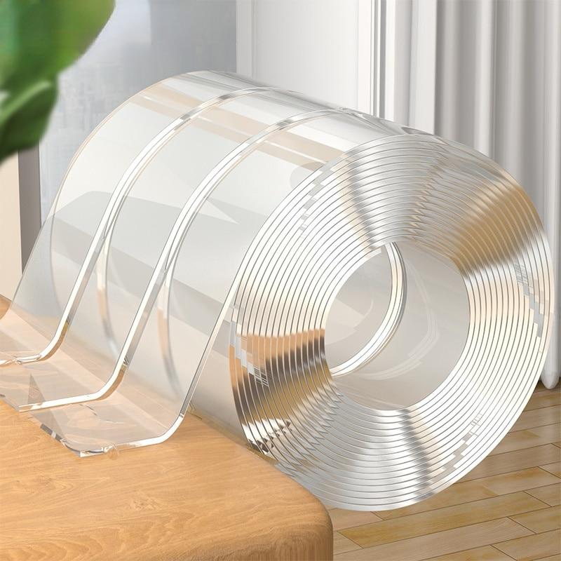 JOYBOS نانو لاصق Mildewproof بالوعة المطبخ ملصقات سلس شريط قوي شفاف مقاوم للماء المنزل جدار الفجوة ملصقات KKR1