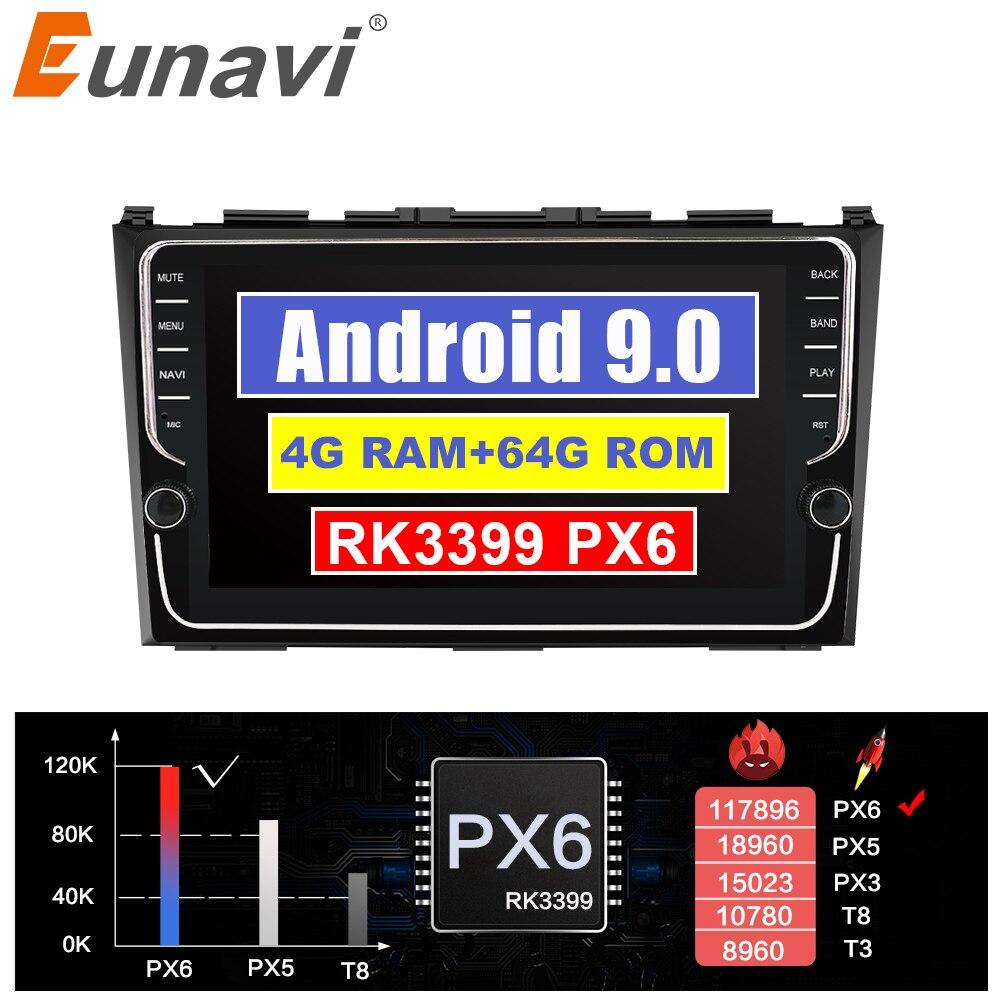 Reproductor multimedia de radio para coche Eunavi Android 9,0 para Honda CRV CR-V 3 2007-2011 navegación gps audio de vídeo estéreo TDA7851 sin DVD