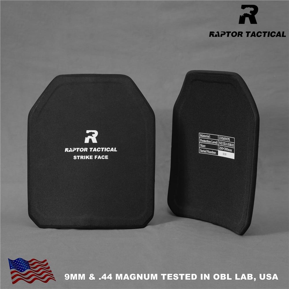 Raptor Tactical NIJ 3A IIIA Bulletproof Plates Ballistic Board Backpack Armor Panel Pair Set Ballistic Shield Pads 10x12 & 11x14