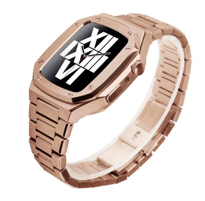 38mm 42mm Stainless Steel Band Set for Apple Watch Band 40mm 44mm Metal Watch Case for iWatch Series 6 SE 5 4 3 2 1 Modification enlarge