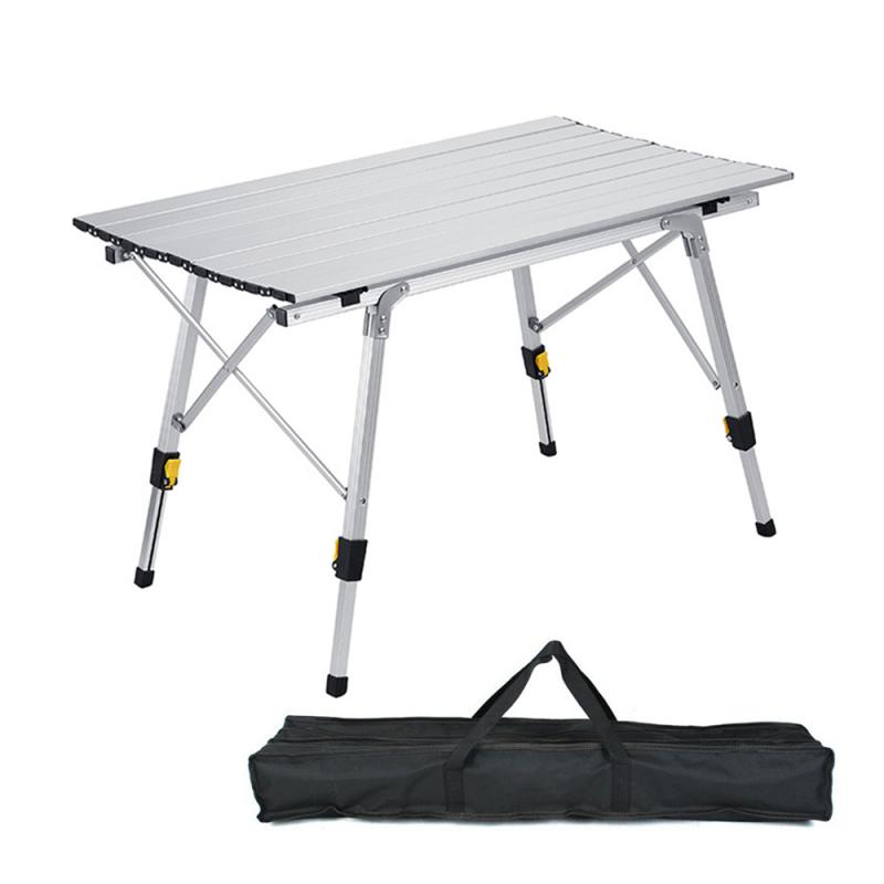 Aluminium Alloy Outdoor Foldable Table Folding Table Aluminum Portable Picnic Table For Barbecue Camping 120x70x73cm 90x53x65cm outdoor dining table outdoor table aluminium