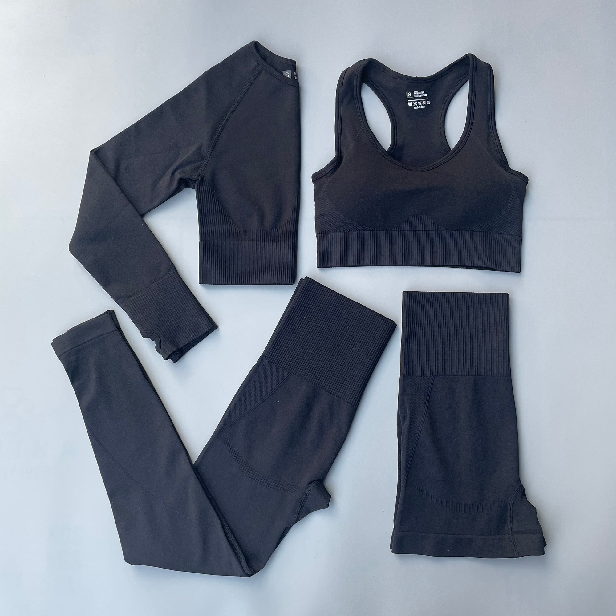 Women Seamless yoga set Workout Sportswear Quick-drying fitness suit Skinny Gym Clothing CropTop Hig