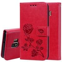 Чехол для Samsung J2 Core Cover Rose Flower кожаный чехол для Samsung Galaxy J2 Core SM-J260F J260F J260 кошелек откидной Чехол Coques