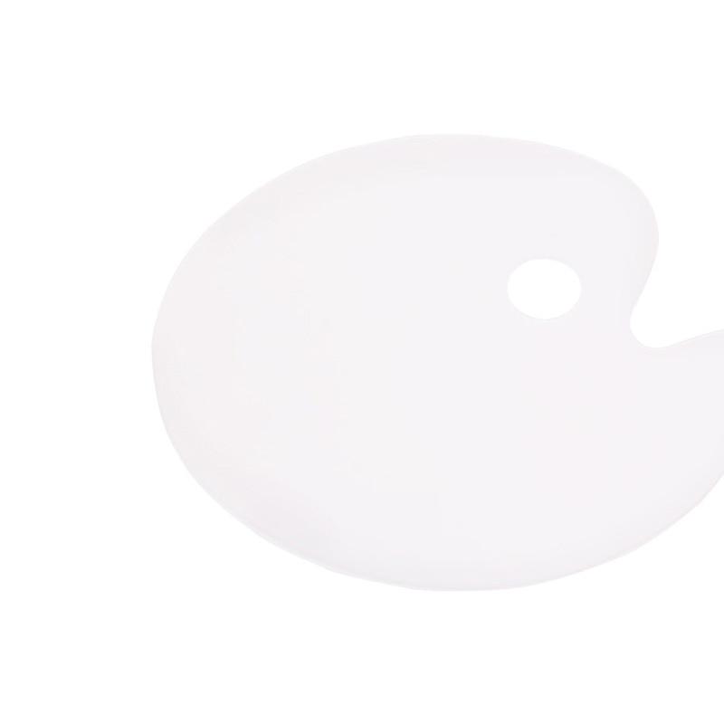 Transparent Palette Acrylic Palette Art Student Special Oil Painting Palette Gouache Acrylic Oil Painting Palette Oval enlarge