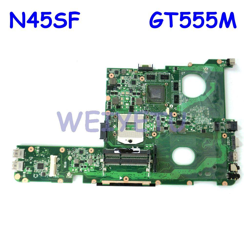 N45SF اللوحة مع N12E-GE2-A1 GT555M N45 N45SF اللوحة ل ASUS N45S N45SF N45SL Laptop mainboard 100% اختبار موافق