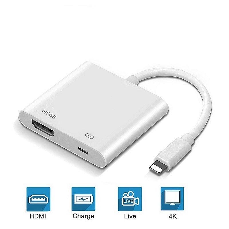 Adaptador 4 k 2020 p para iphone hdmi, adaptador conversor de porta de 8 pinos hd tv/projetor 1080 para apple apple apple