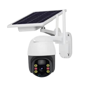 Outdoor Wireless Security Camera with Solar Panel 1080P WiFi 350° Viewing Angle Infrared Night Vision IP66 Waterproof